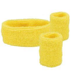 Set 3 bandeaux éponge jaune Accessoires de fête 01893
