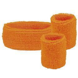 Set 3 bandeaux éponge fluo orange Accessoires de fête 01896