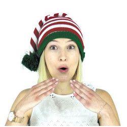 Bonnet d'elfe en tricot Accessoires de fête 873991