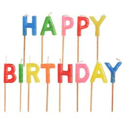 Déco festive, Bougies happy birthday, CY-0062207, 2,20€