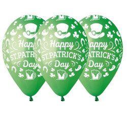 Sachet 10 ballons 30 cm Happy St Patrick's Day Déco festive BA19705
