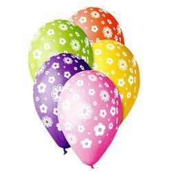 Sachet 10 ballons diamètre 30 cm multicolore pastel fleurs Déco festive BA19706