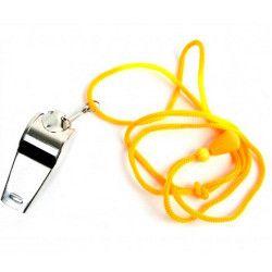 Sifflet arbitre 5.5 cm avec cordon vendu par 24 Jouets et articles kermesse 36501