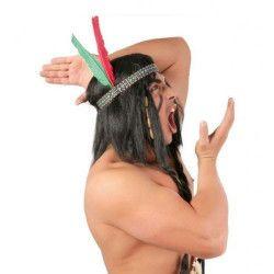 Accessoires de fête, Bandeau indien avec plumes, GUIRCA13238, 1,90€