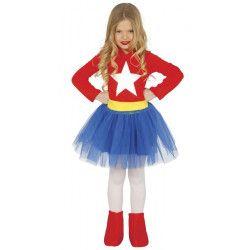 Déguisements, Déguisement super héroïne fille 7-9 ans, 83214, 18,90€