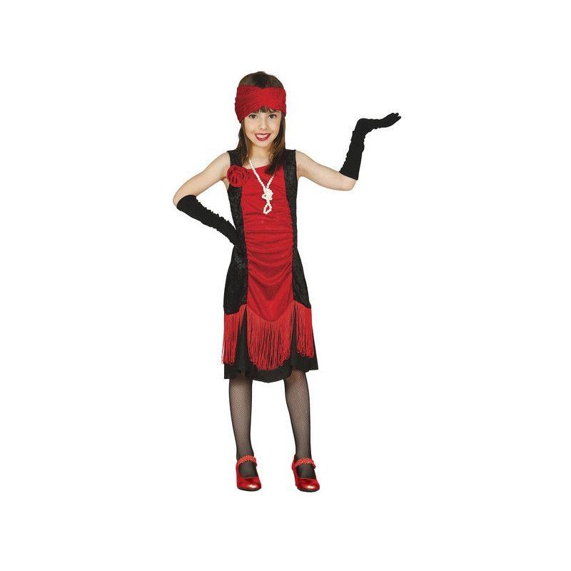 Déguisements, Déguisement charleston rouge et noir fille 5-6 ans, 83358GUIRCA, 18,90€