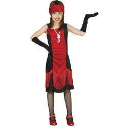 Déguisement charleston rouge et noir fille 7-9 ans Déguisements 83359GUIRCA