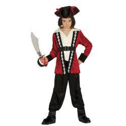 Déguisements, Déguisement pirate rouge et noir garçon 5-6 ans, 85898, 22,90€