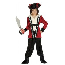 Déguisements, Déguisement pirate rouge et noir garçon 7-9 ans, 85899, 22,90€