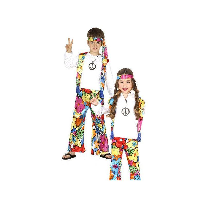 Déguisements, Déguisement hippie fleurs enfant 5-6 ans, 87481, 14,90€