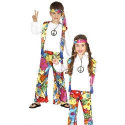 Déguisements, Déguisement hippie fleurs enfant 7-9 ans, 87482, 14,90€