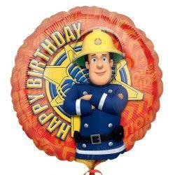 Décoration festive, Ballon hélium Sam le pompier 45 cm, 24792, 4,50€