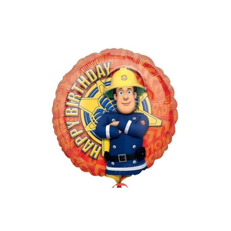 Déco festive, Ballon hélium Sam le pompier 45 cm, 24792, 4,50€