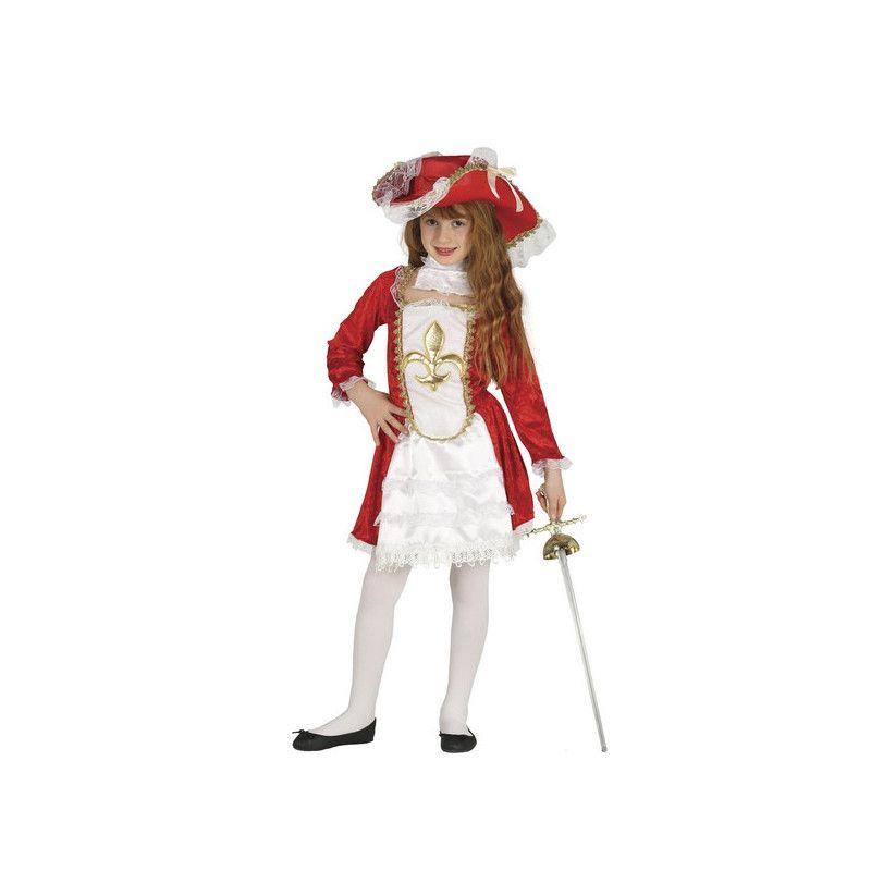 Déguisement mousquetaire rouge et blanc fille 7-9 ans Déguisements 87525