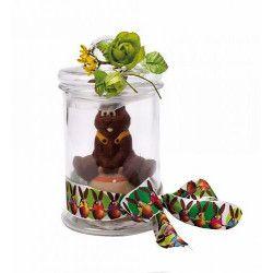 Bonbonnière droite en verre avec couvercle Déco festive 15476BACOMA