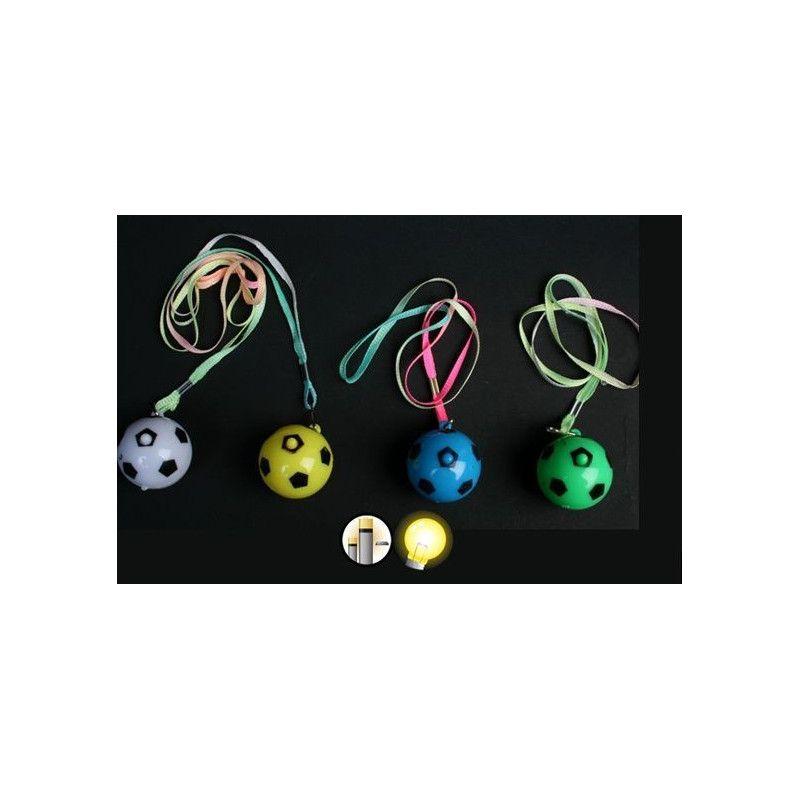 Collier balle de foot lumineux vendu par 48 Jouets et articles kermesse 15490-LOT