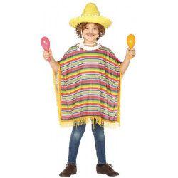 Déguisements, Déguisement poncho mexicain enfant 7-9 ans, 88503, 14,50€