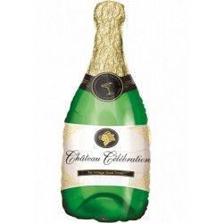 Ballon aluminium forme bouteille de champagne 91 cm Déco festive 04949 01