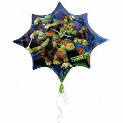Déco festive, Ballon mylar étoile Les Tortues Ninja 88 cm, 2643001, 6,90€