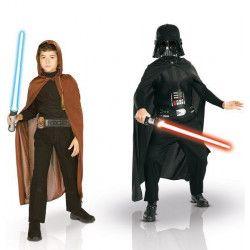 Déguisements, Coffret deux déguisements Dark Vador et Jedi Starwars™ enfant 8-10 ans, 155011, 55,90€