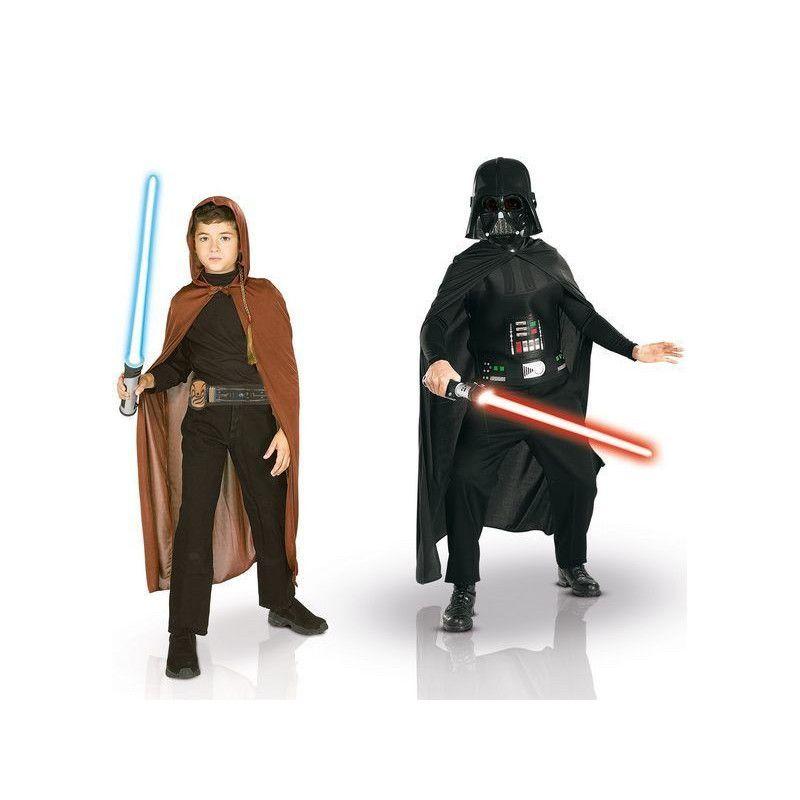 Coffret deux déguisements Dark Vador et Jedi Starwars™ garçon 8-10 ans Déguisements 155011