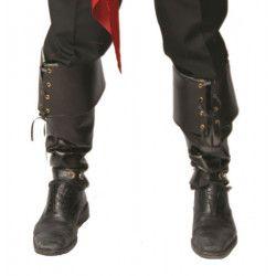 Paire de sur-bottes noires Accessoires de fête 16104