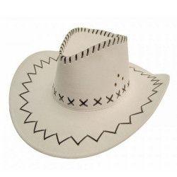 Chapeau cowboy blanc Accessoires de fête 86010006