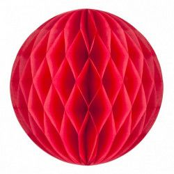 Boule alvéolée corail 30 cm Déco festive 502212L