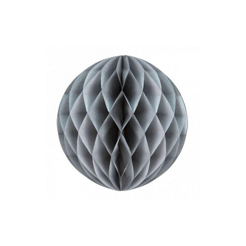 Boule alvéolée grise 30 cm Déco festive 50225L