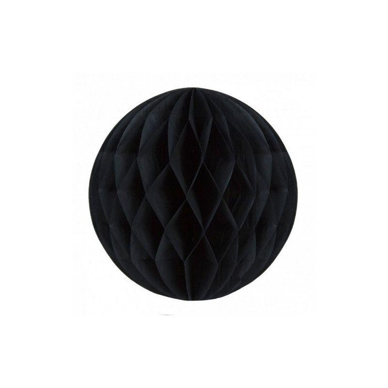 Boule alvéolée noire 30 cm Déco festive 502211L