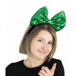 Accessoires de fête, Serre tête noeud sequin St Patrick, 8651113, 3,90€