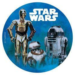 Disque azyme pour gâteau Star Wars™ 20 cm Déco festive 114365