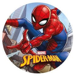 Disque azyme pour gâteau Spiderman™ 20 cm Déco festive 114367