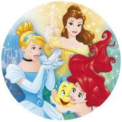 Disque azyme pour gâteau Princesses Disney™ 20 cm Déco festive 114368