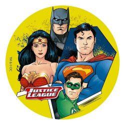 Disque en sucre Justice League™ 16 cm Déco festive 231088