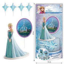 Déco festive, Kit de décoration pour gâteau La reine des Neiges™, 303003, 8,95€