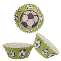 Caissettes à cupcakes football x 50 Déco festive 339249