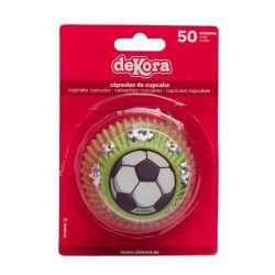 Déco festive, Caissettes à cupcakes football x 50, 339249, 2,50€