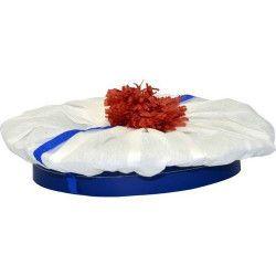 Accessoires de fête, Bérêt marin crépon et pompon rouge, 60090, 1,60€