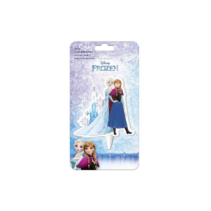 Bougie anniversaire Elsa et Anna Frozen™ Déco festive 346184