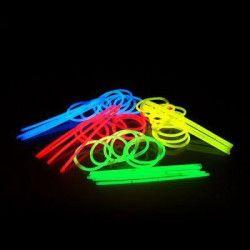 Tube 15 bracelets fluo glow lumineux Accessoires de fête 01B26M