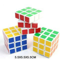 Jouets et kermesse, Cube magique coloré 5.5 cm vendu par 12, 24454-LOT, 1,00€