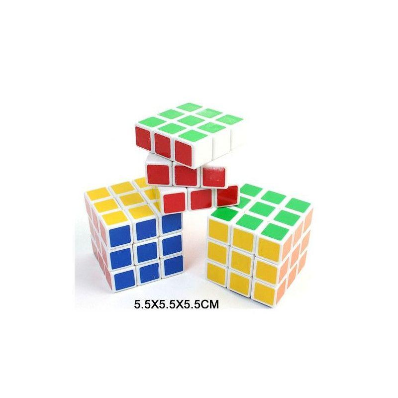 Cube magique coloré 5.5 cm vendu par 12 Jouets et kermesse 24454-LOT