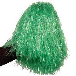 Pom Pom girl vert avec poignée Accessoires de fête AC1310/VERT