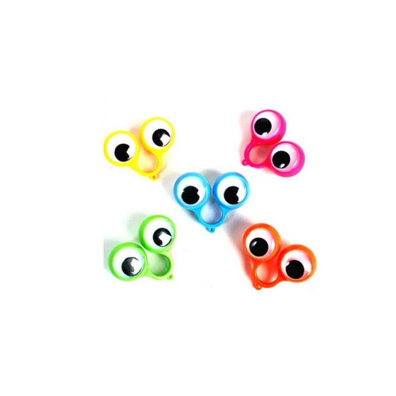 Bague gros yeux 5.5 cm kermesse vendue par 48 Jouets et articles kermesse 11430-LOT