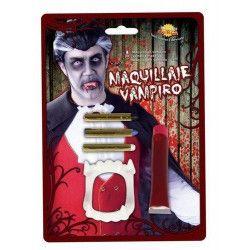 Maquillage de vampire avec dentier Accessoires de fête 15591