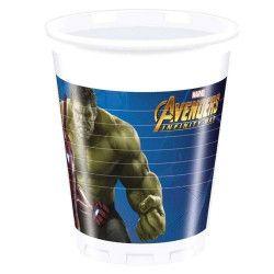 Gobelets jetables Avengers Infinity War™ x 8 Déco festive LAVE89477