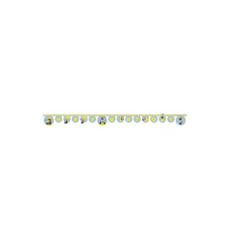 Guirlande Happy Birthday Lovely Minions™ 2 m Déco festive LMIO87183
