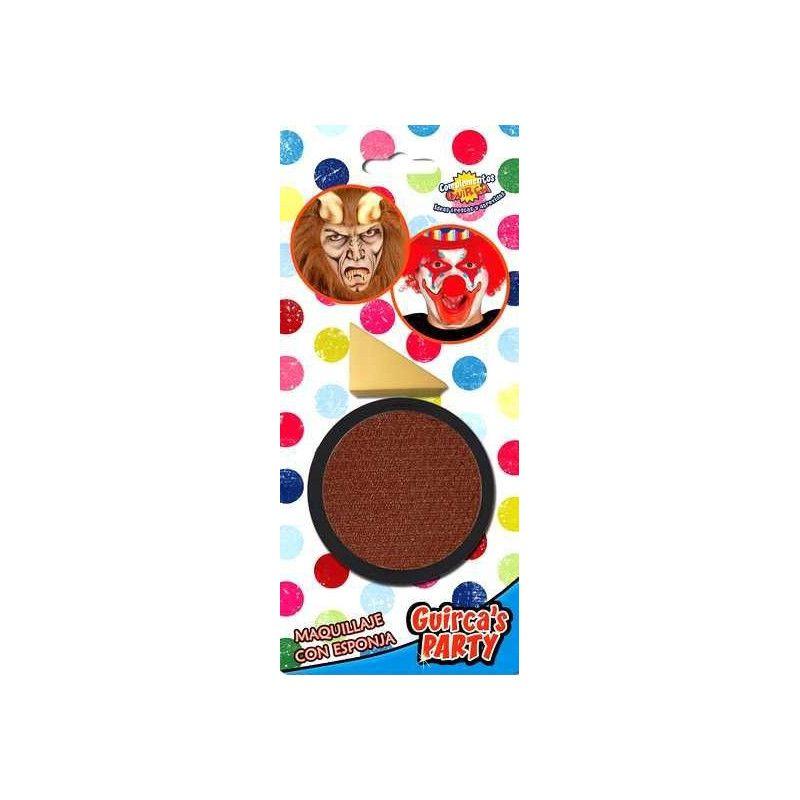 Maquillage marron avec éponge Accessoires de fête 15627GUIRCA