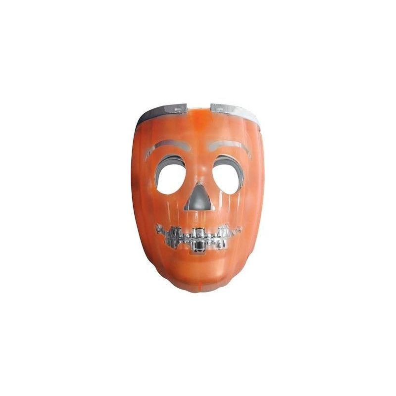 Masque lumineux squelette et citrouille adulte Accessoires de fête 156297